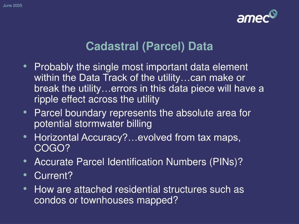 Cadastral (Parcel) Data