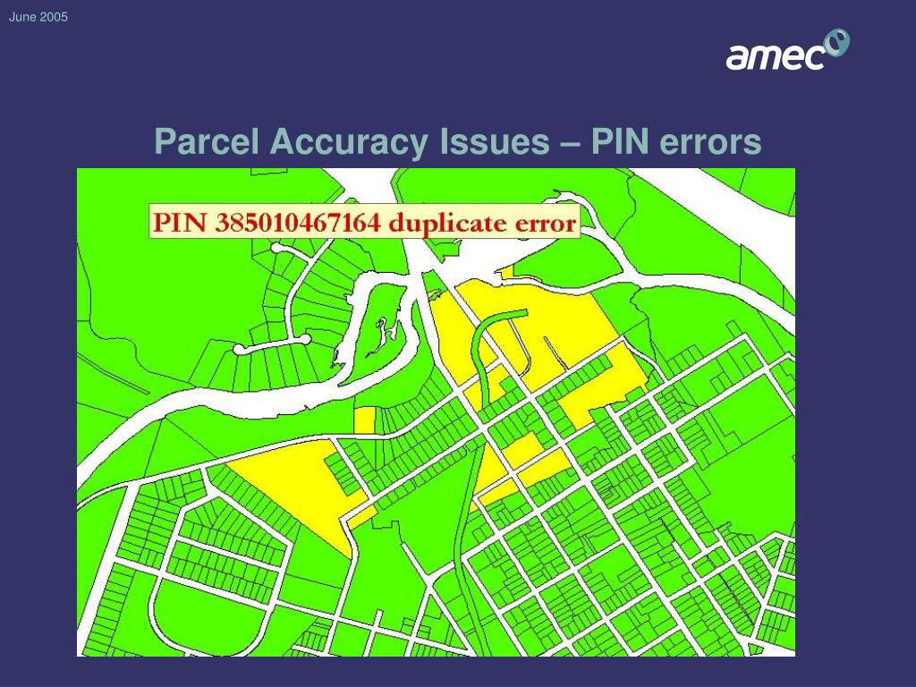 Parcel Accuracy Issues – PIN errors
