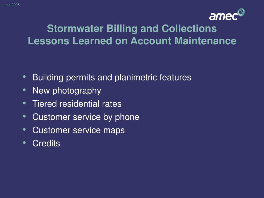 Stormwater Billing and Collections