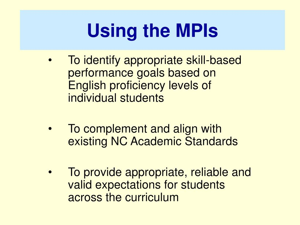 Using the MPIs