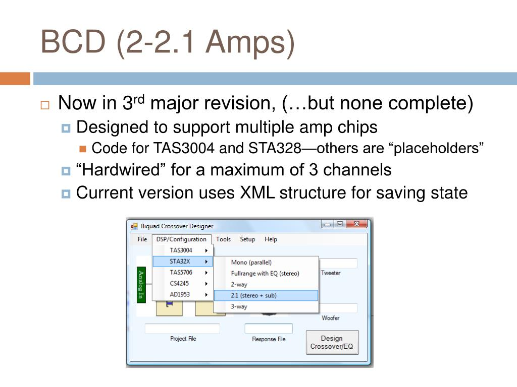 BCD (2-2.1 Amps)