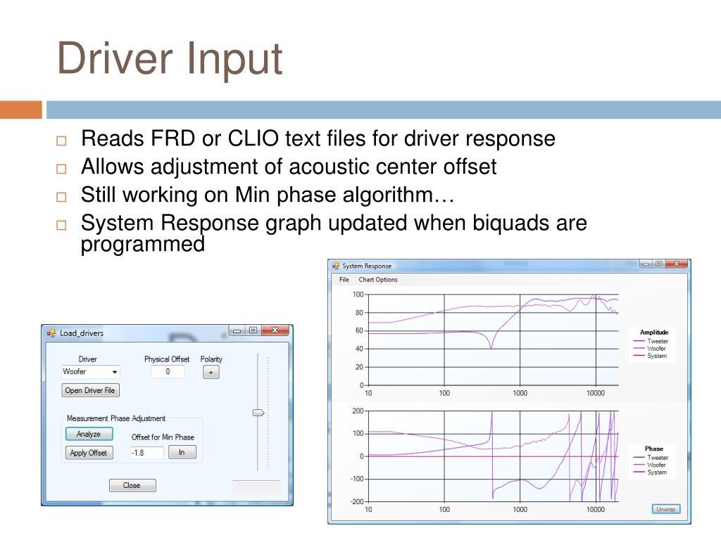 Driver Input