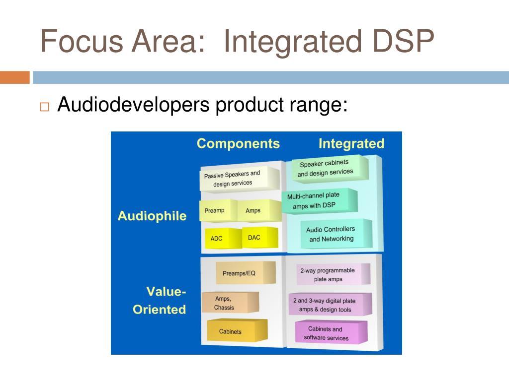 Focus Area:  Integrated DSP