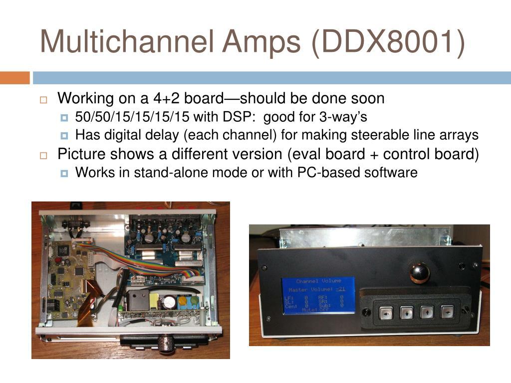 Multichannel Amps (DDX8001)