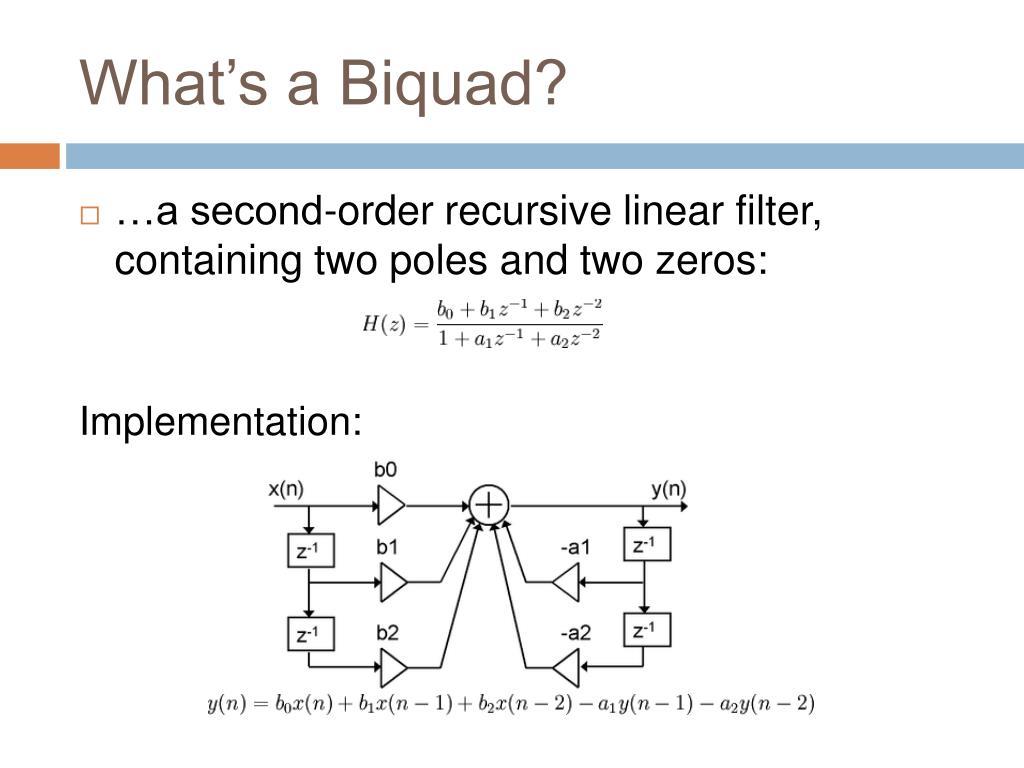 What's a Biquad?