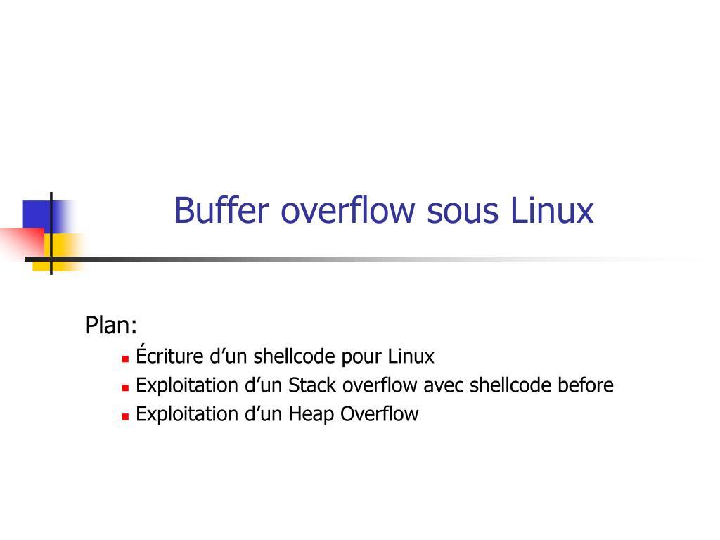 Buffer overflow sous Linux