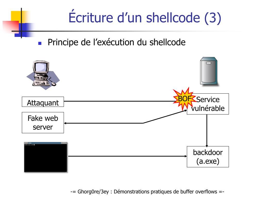 Écriture d'un shellcode (3)