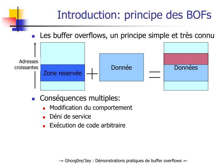 Introduction principe des bofs