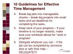 10 guidelines for effective time management19