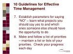 10 guidelines for effective time management20