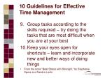 10 guidelines for effective time management21