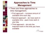 approaches to time management