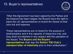 15 buyer s representatives