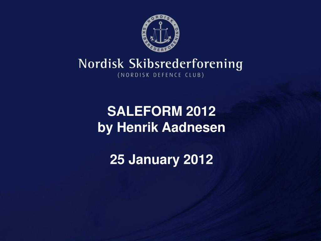 saleform 2012 by henrik aadnesen 25 january 2012