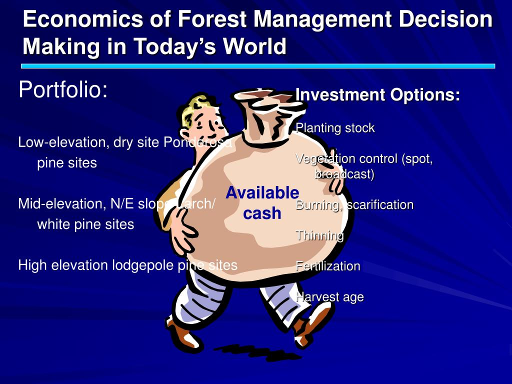 Economics of Forest Management Decision Making in Today's World