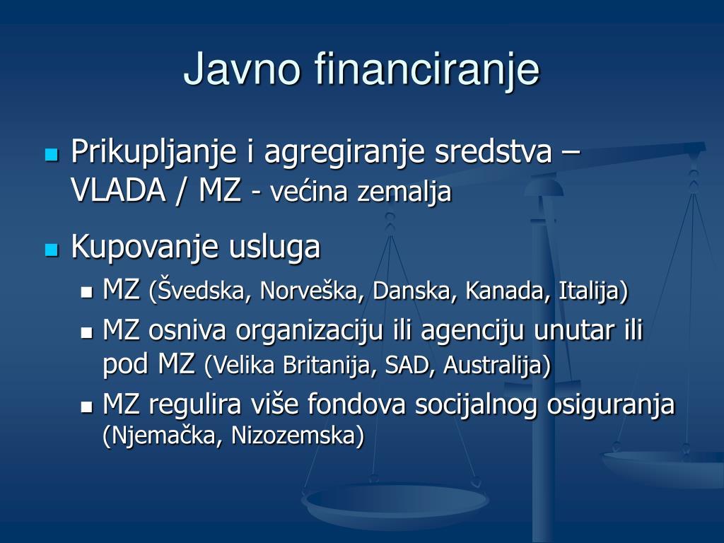 Javno financiranje