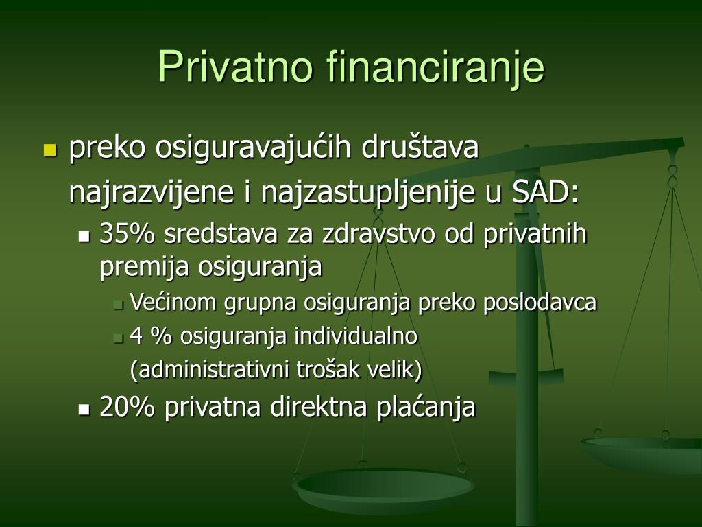 Privatno financiranje