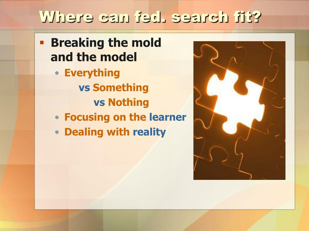 Where can fed. search fit?