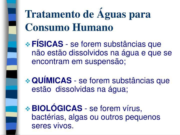 Tratamento de guas para consumo humano2