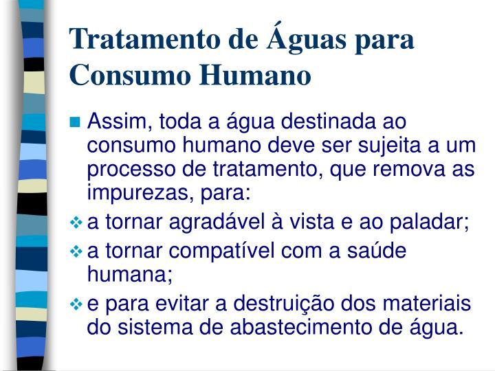 Tratamento de guas para consumo humano3
