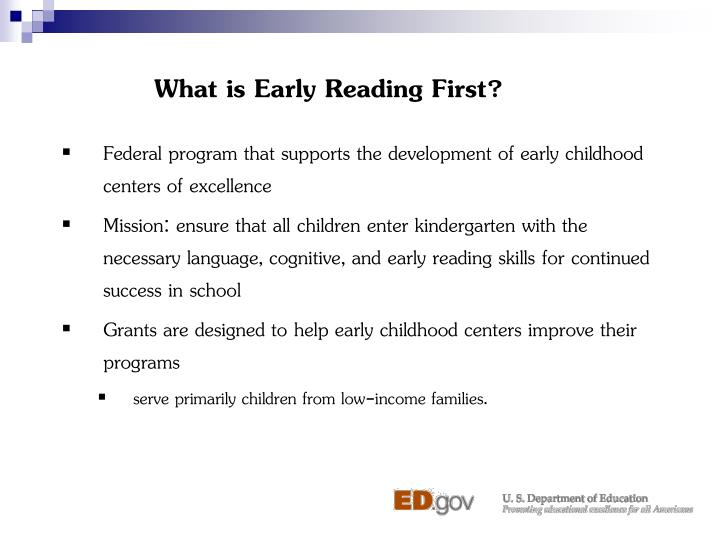 What is early reading first