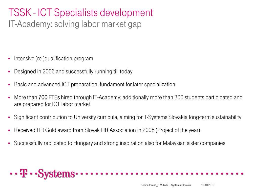 TSSK - ICT Specialists development