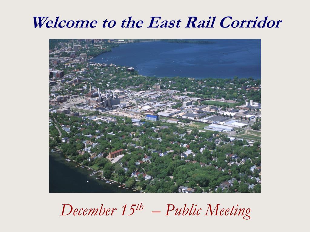 Welcome to the East Rail Corridor