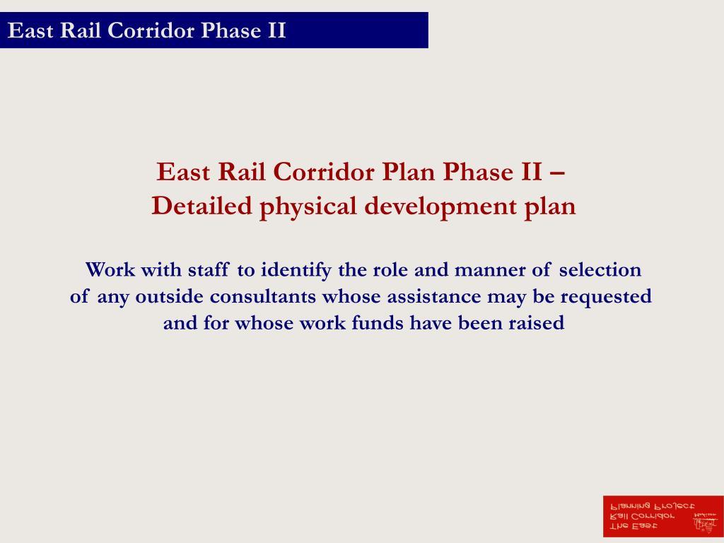East Rail Corridor Phase II