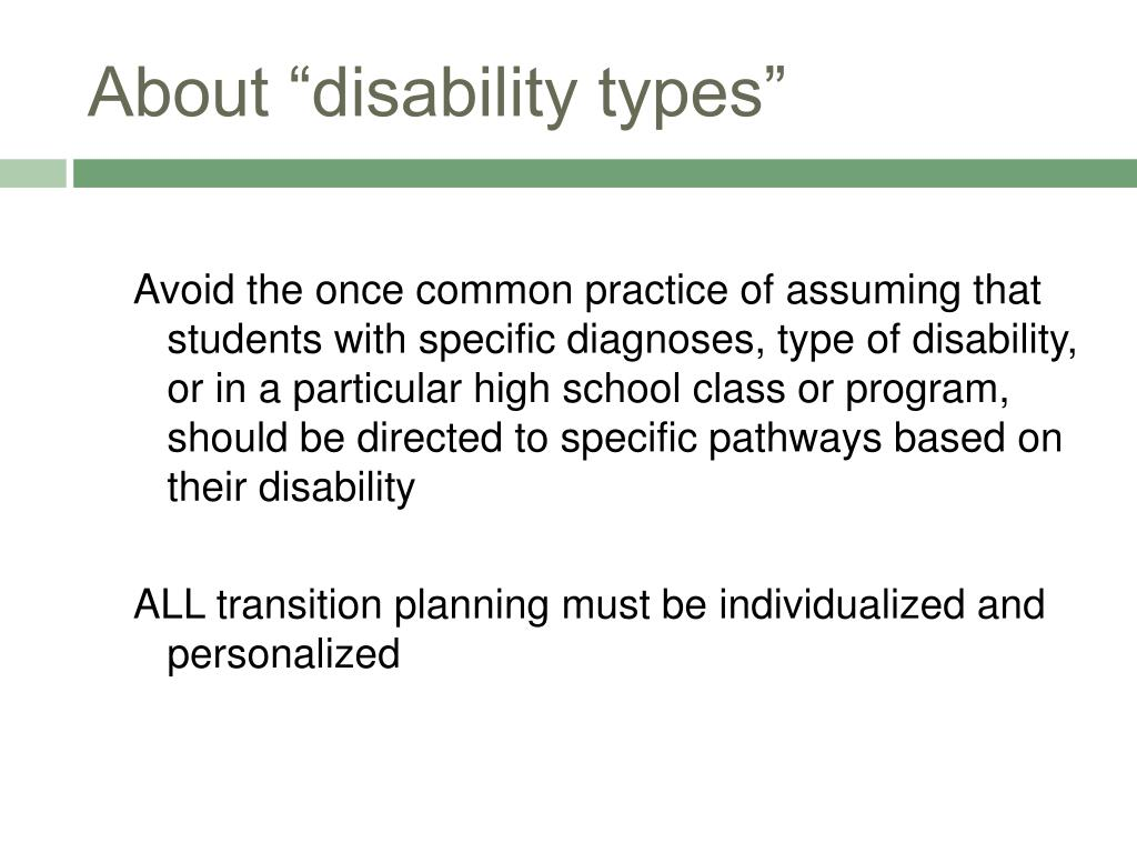 """About """"disability types"""""""
