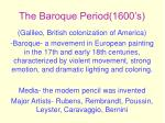 the baroque period 1600 s