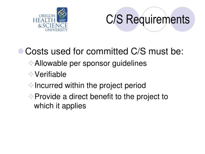 C/S Requirements