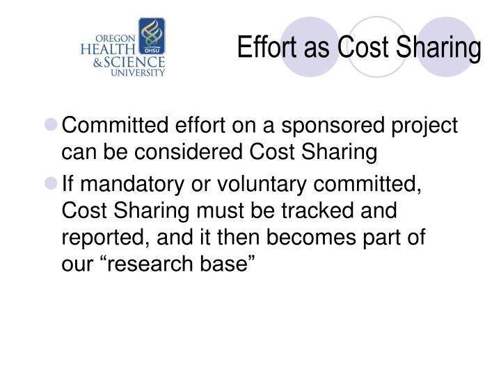 Effort as Cost Sharing