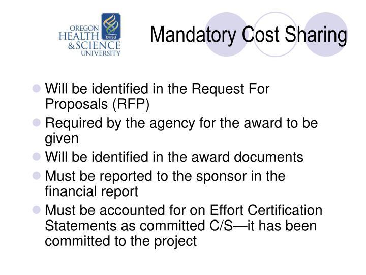 Mandatory Cost Sharing