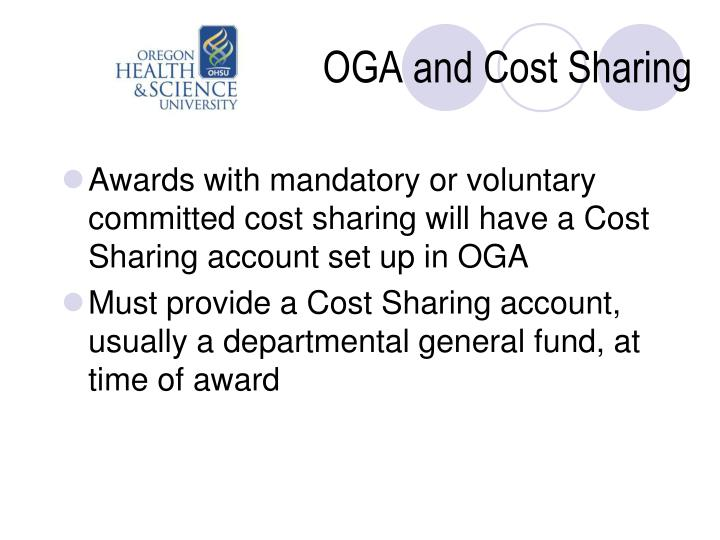 OGA and Cost Sharing