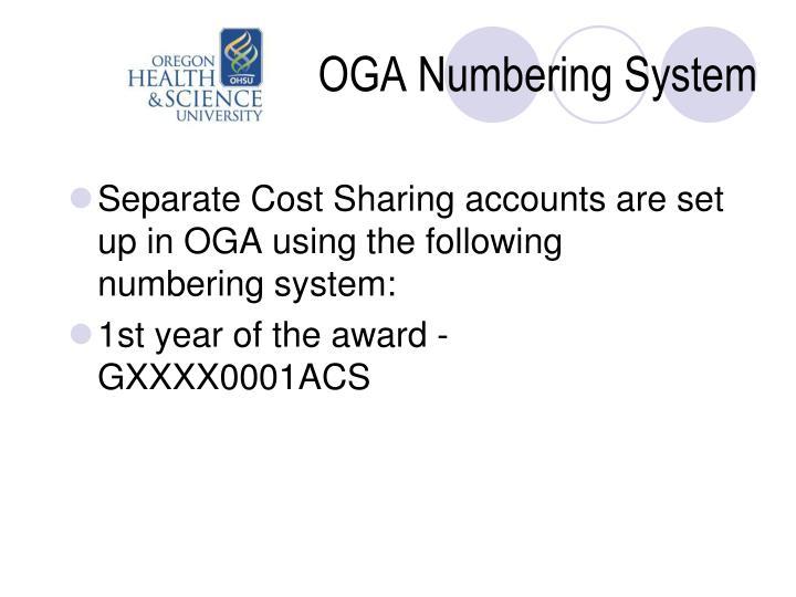 OGA Numbering System