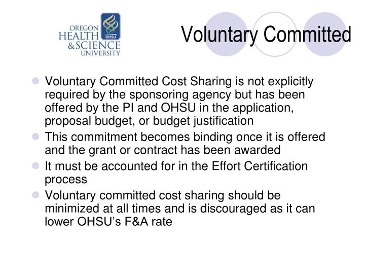 Voluntary Committed