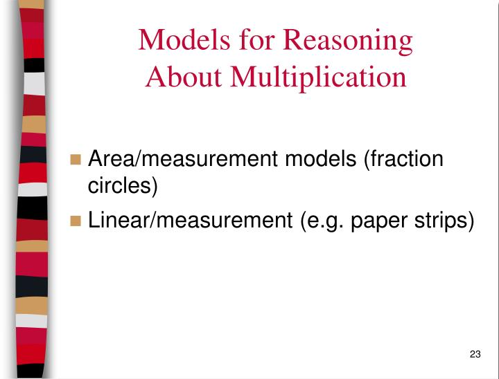Models for Reasoning
