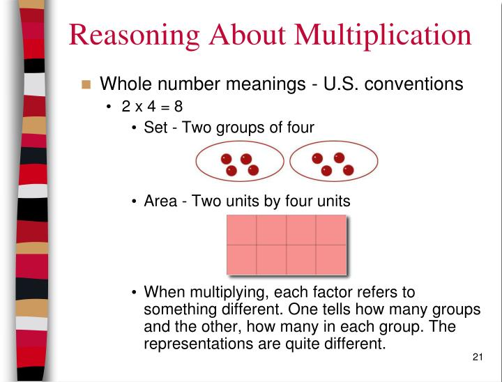 Reasoning About Multiplication