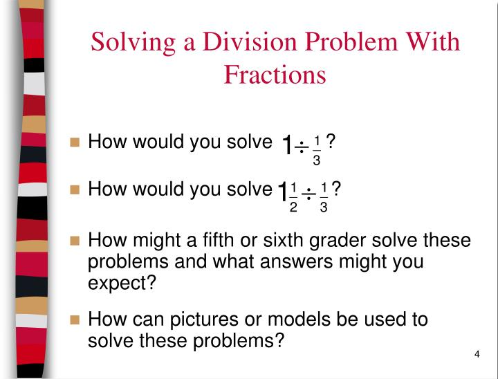 Solving a Division Problem With Fractions