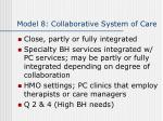 model 8 collaborative system of care