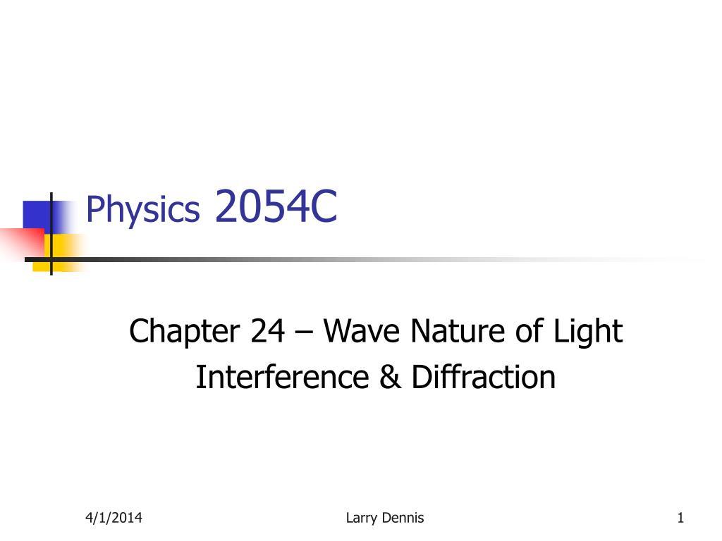 physics 2054c l.