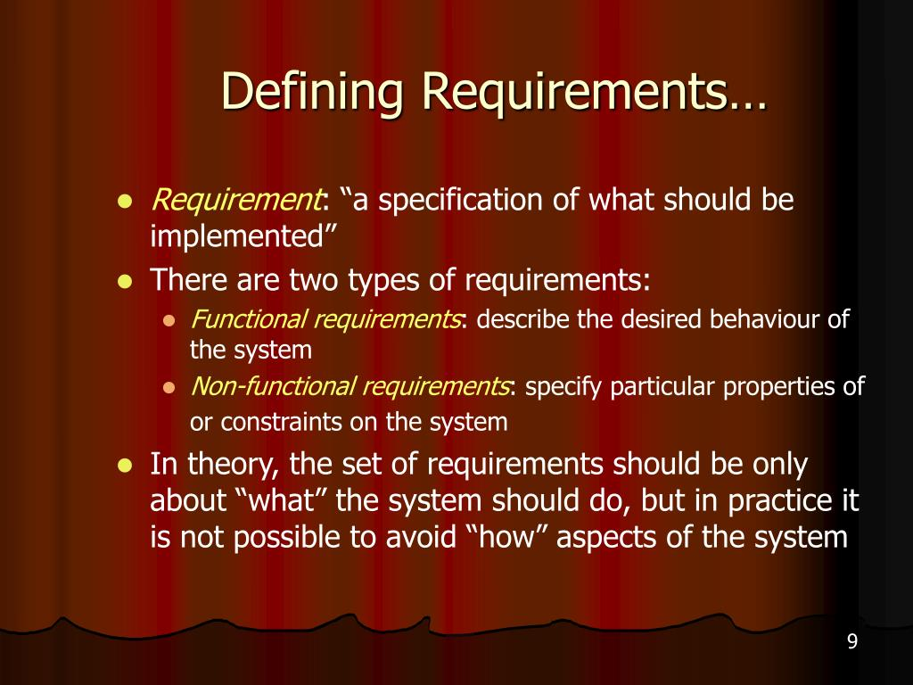 Defining Requirements…