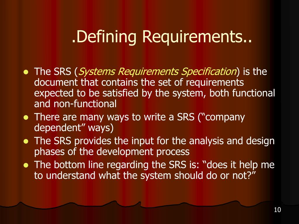 .Defining Requirements..