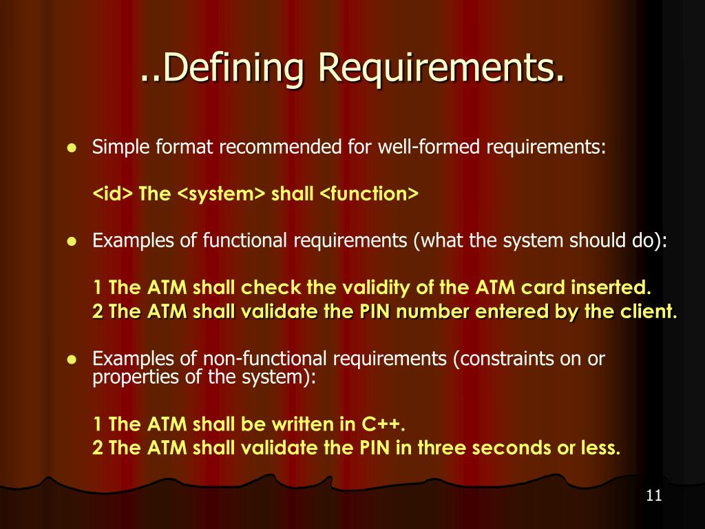 ..Defining Requirements.