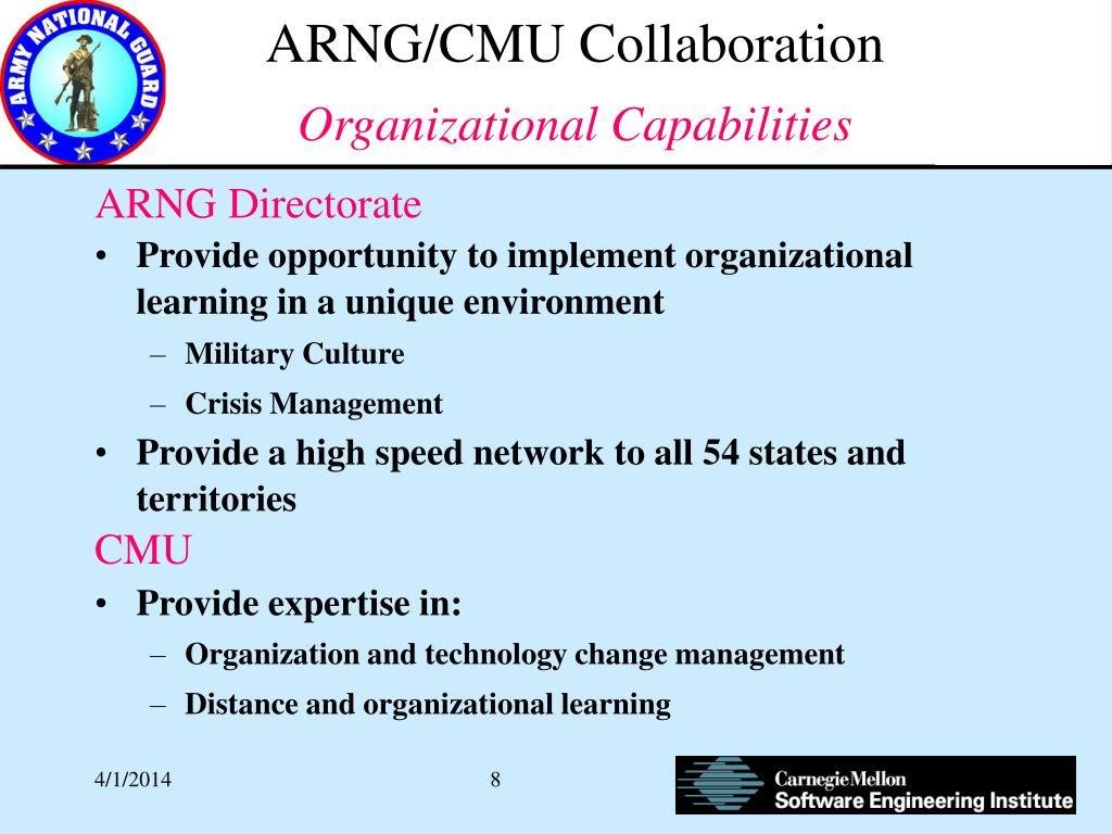 ARNG/CMU Collaboration