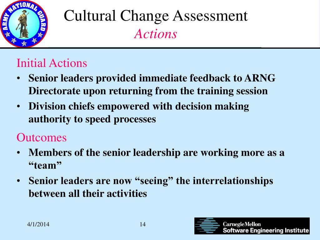 Cultural Change Assessment