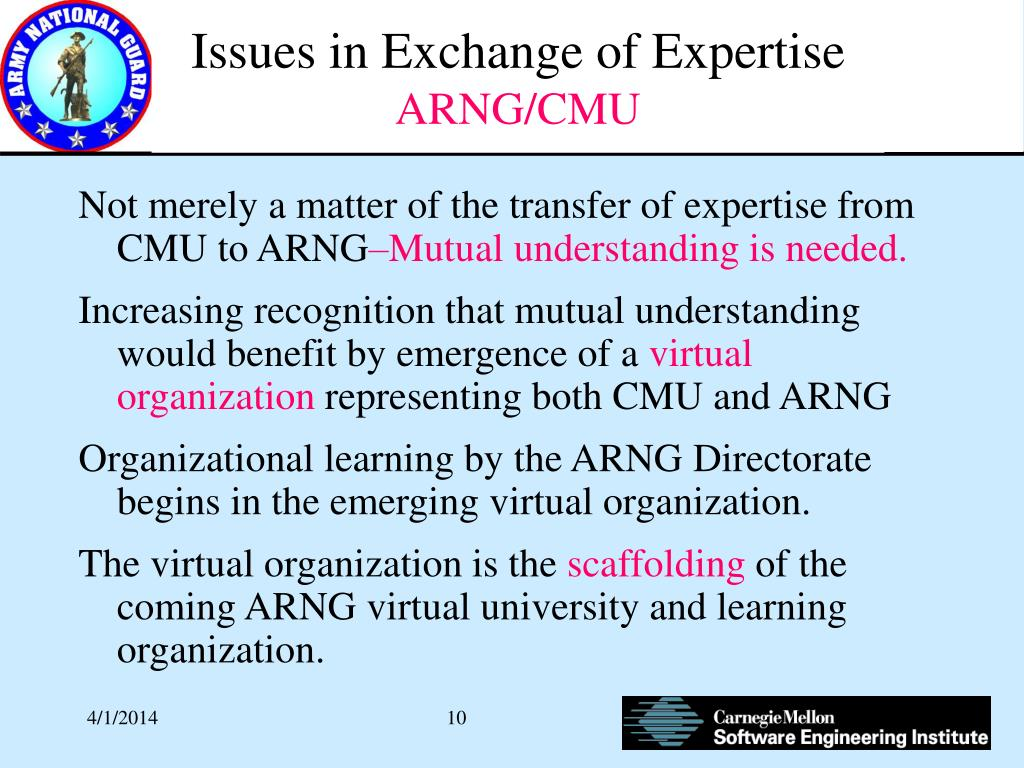 Issues in Exchange of Expertise