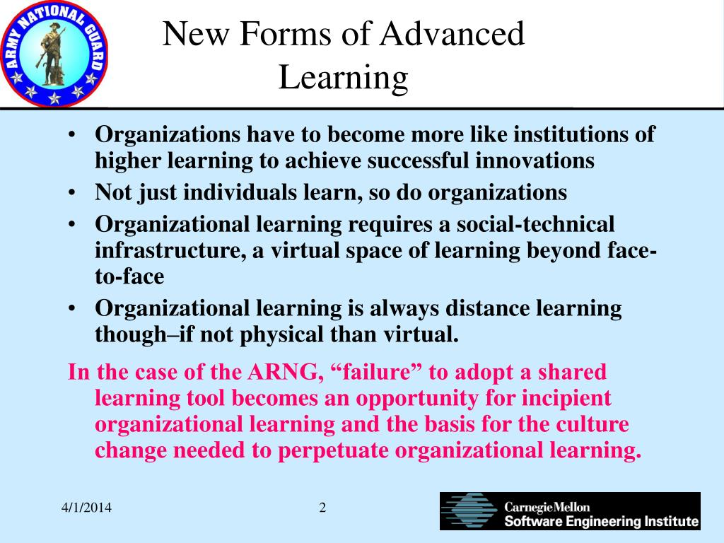 New Forms of Advanced Learning