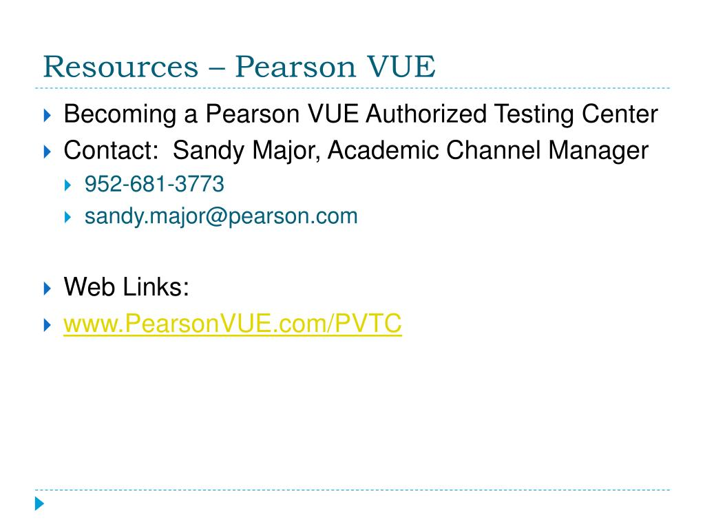 Resources – Pearson VUE