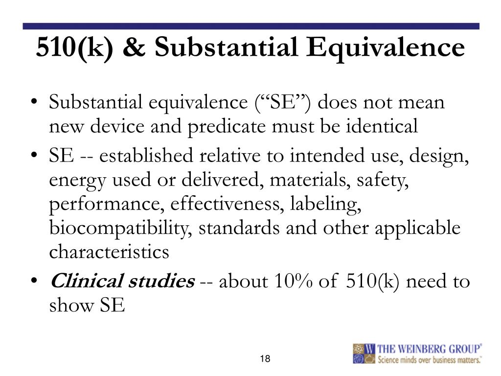 510(k) & Substantial Equivalence